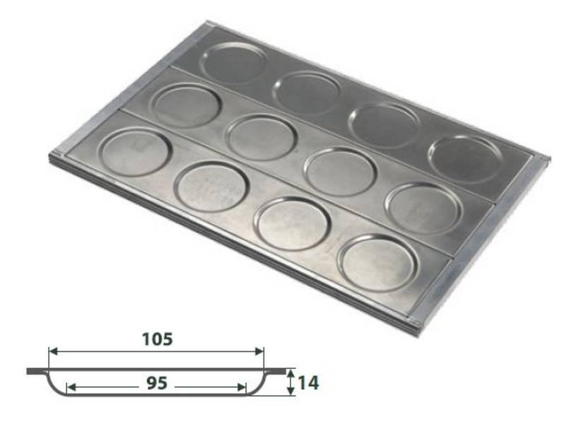 Hamburger Blech aus Aluminium Maxi